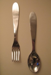 BIG fork and spoon