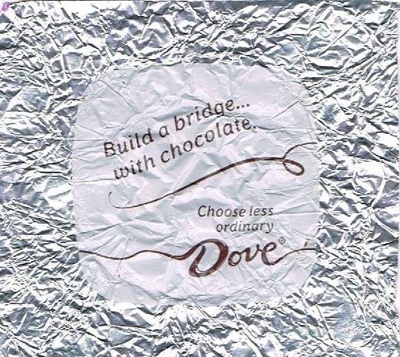 Build a bridge with chocolate