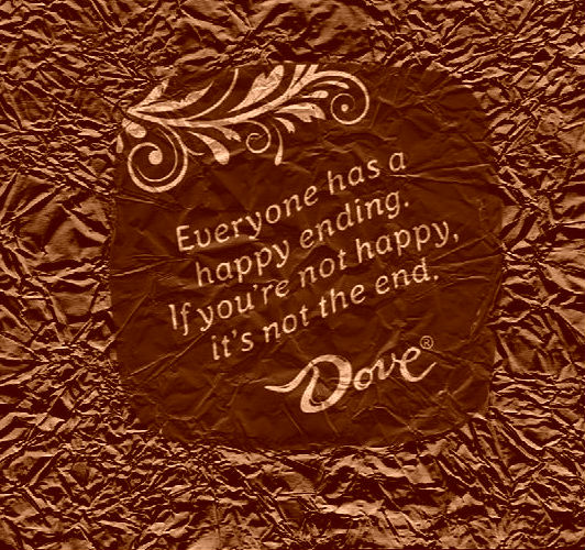 Everyone has a happy ending chocolate