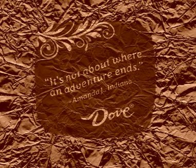 It's not about where an adventure ends chocolate