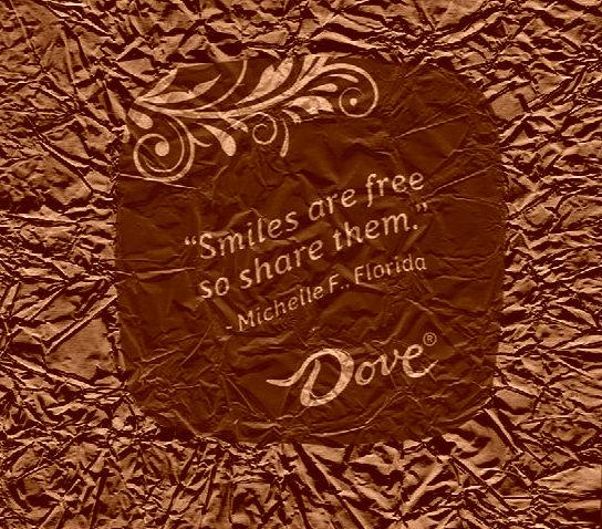 Smiles are free chocolate