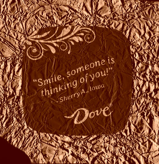 Smile someone is thinking of you! chocolate