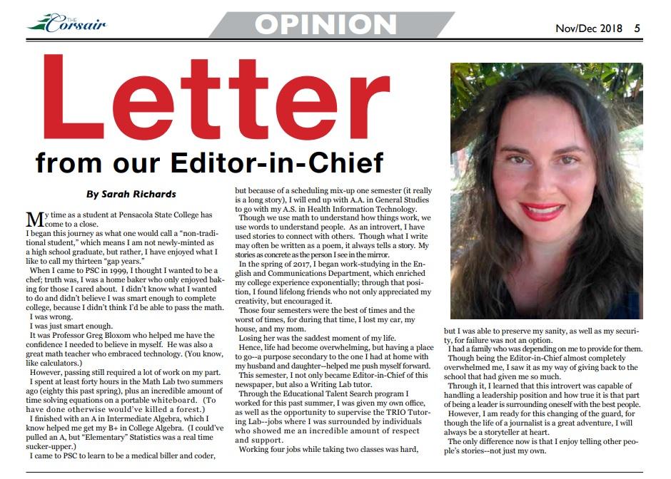 Letter from our EIC